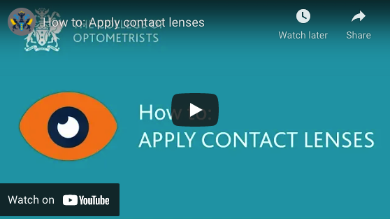 How to: apply & remove contact lenses